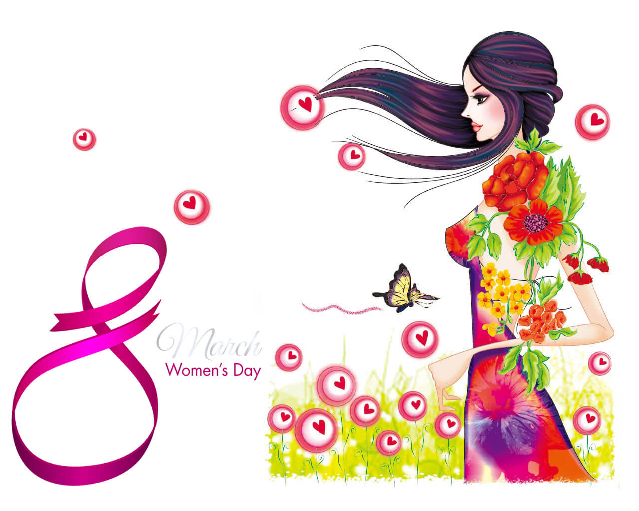 happy womens day wishes modern art hd wallpaper