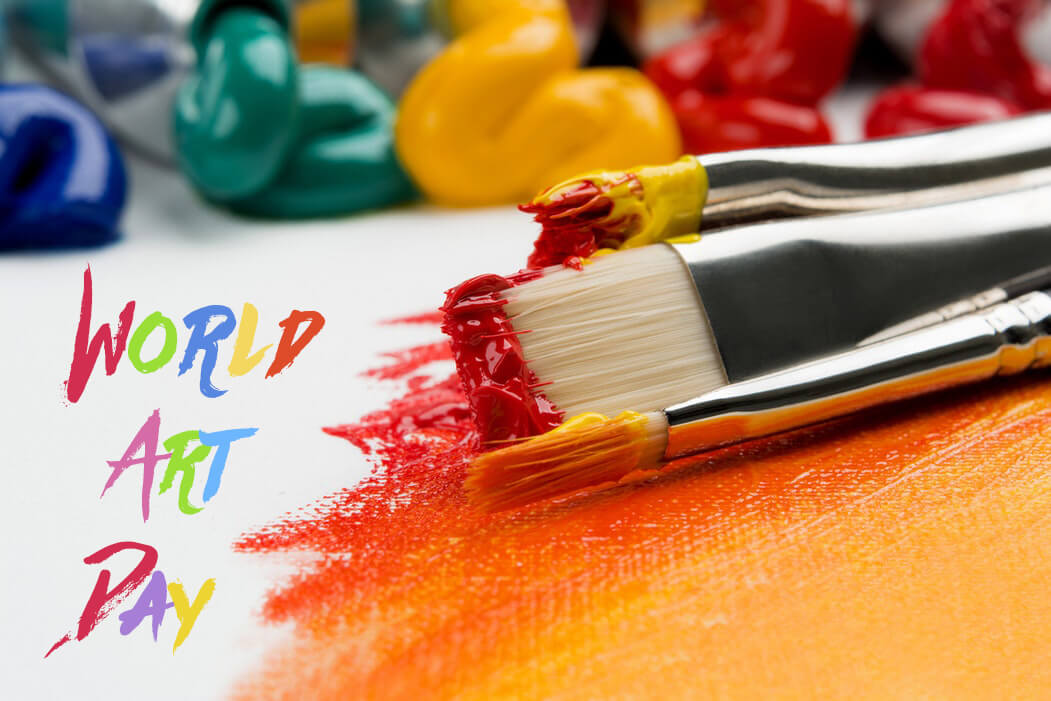 happy world art day paint brush colors pc hd wallpaper