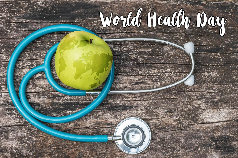 happy world health day apple globe stethoscope hd wallpaper