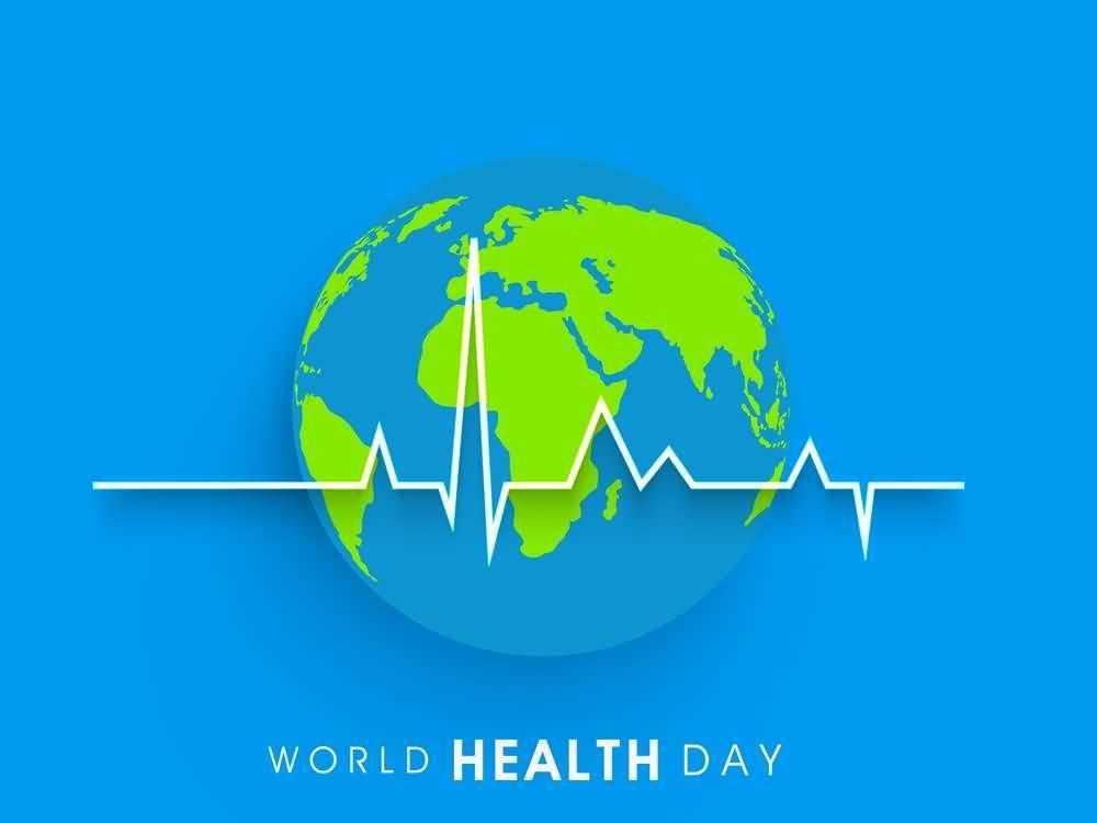 happy world health day earth globe wallpaper