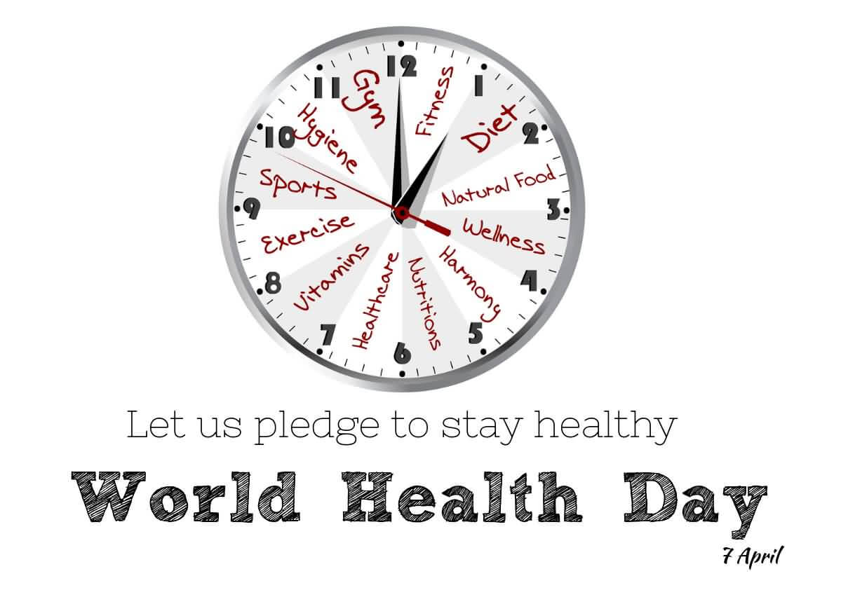 happy world health day pledge stay healthy hd wallpaper