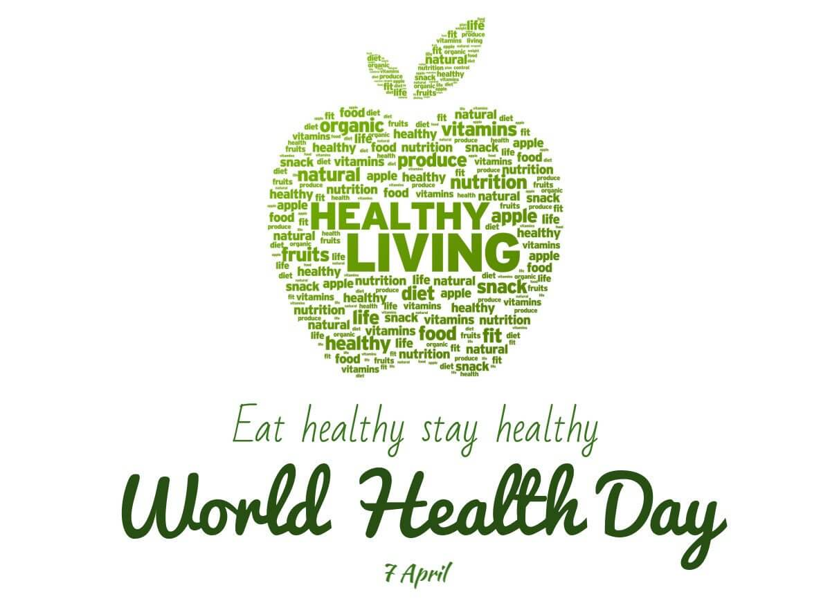 happy world health day stay healthy living hd wallpaper