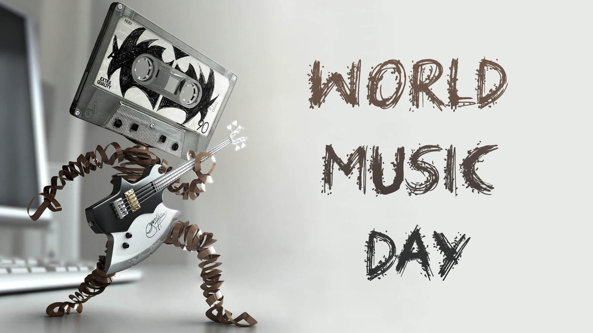 happy world music day cassette man hd wallpaper