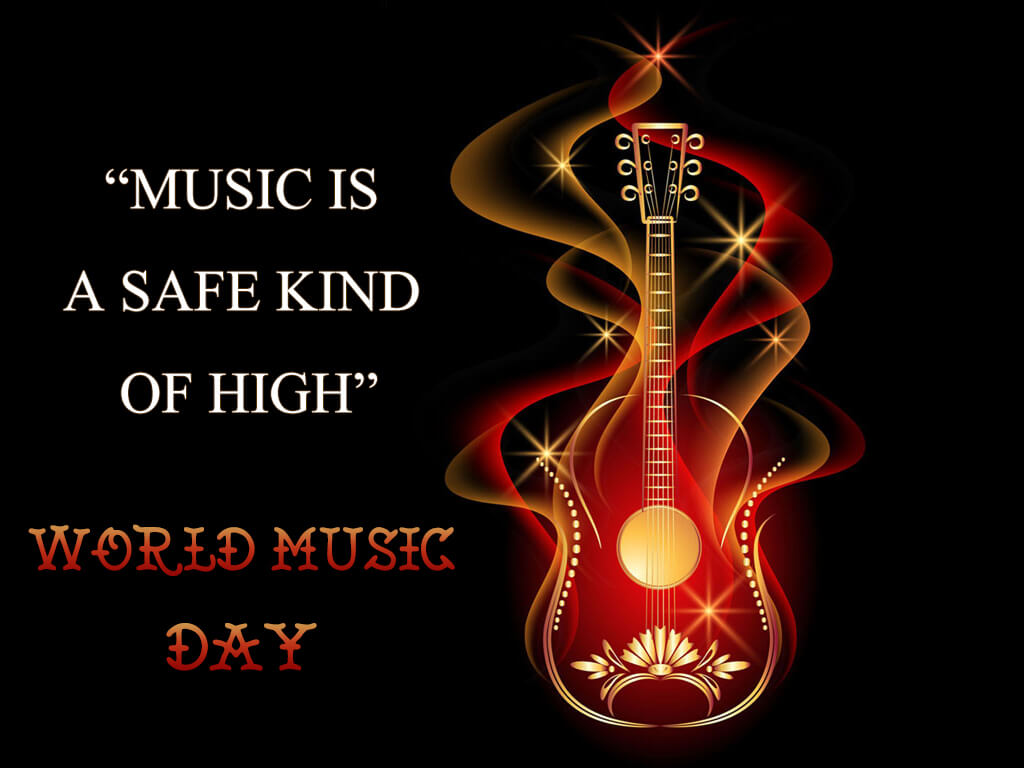 happy world music day hd guitar wallpaper