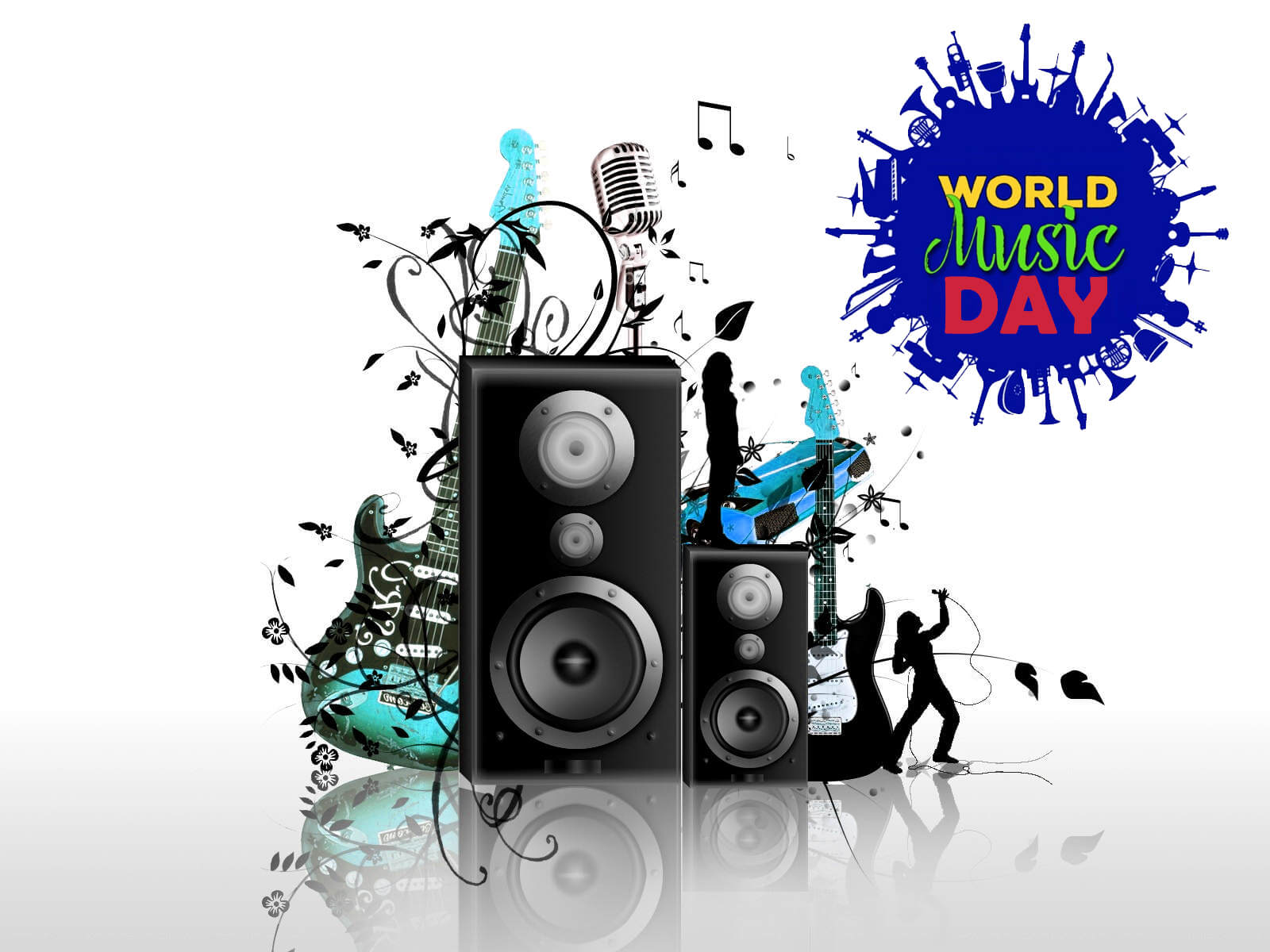 Happy World Music Day Hd New Latest 3d Wallpaper