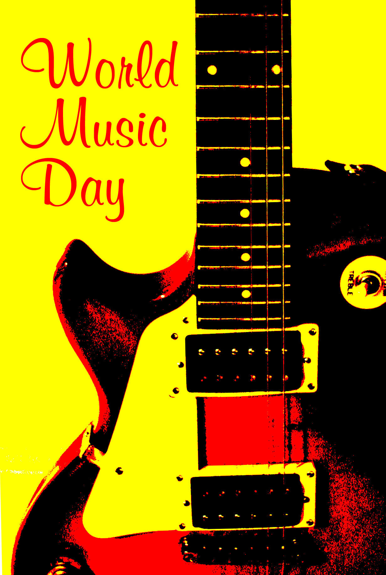 happy world music day hd wallpaper