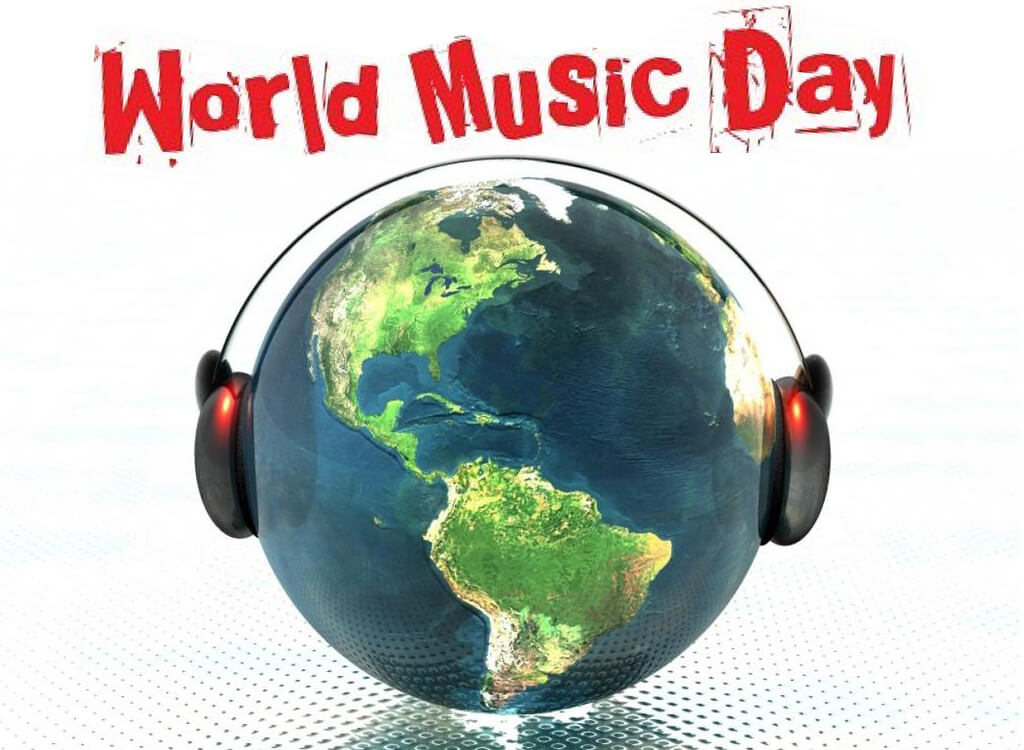 happy world music day head phones headset image