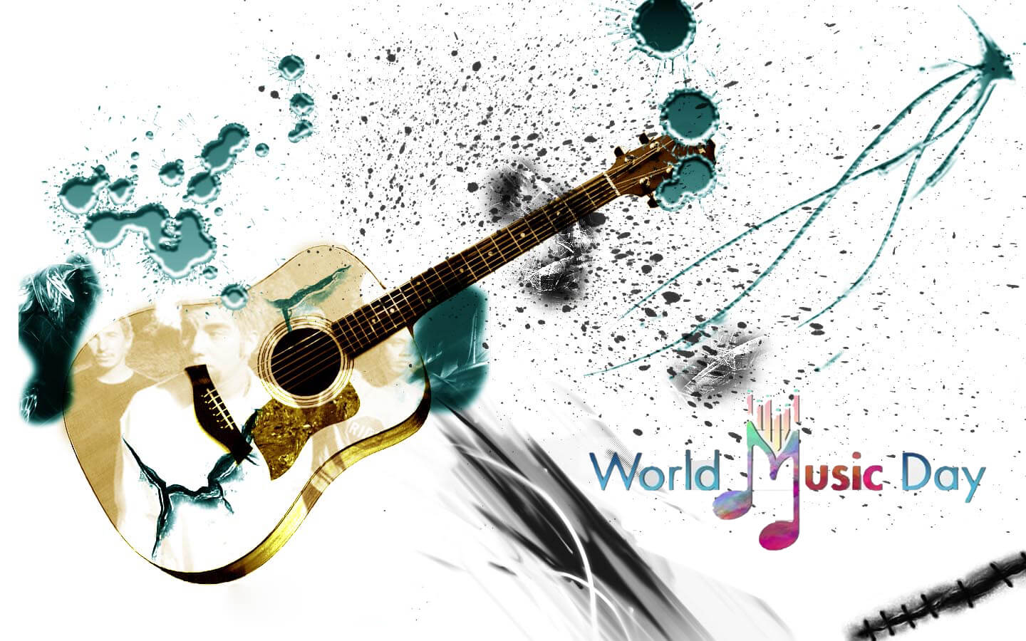 happy world music day new guitar hd wallpaper