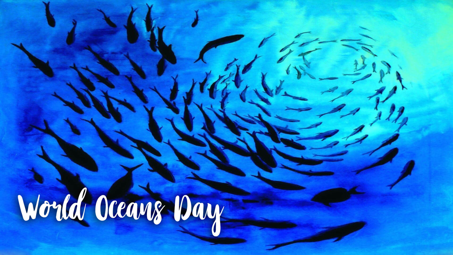 happy world oceans day under the ocean