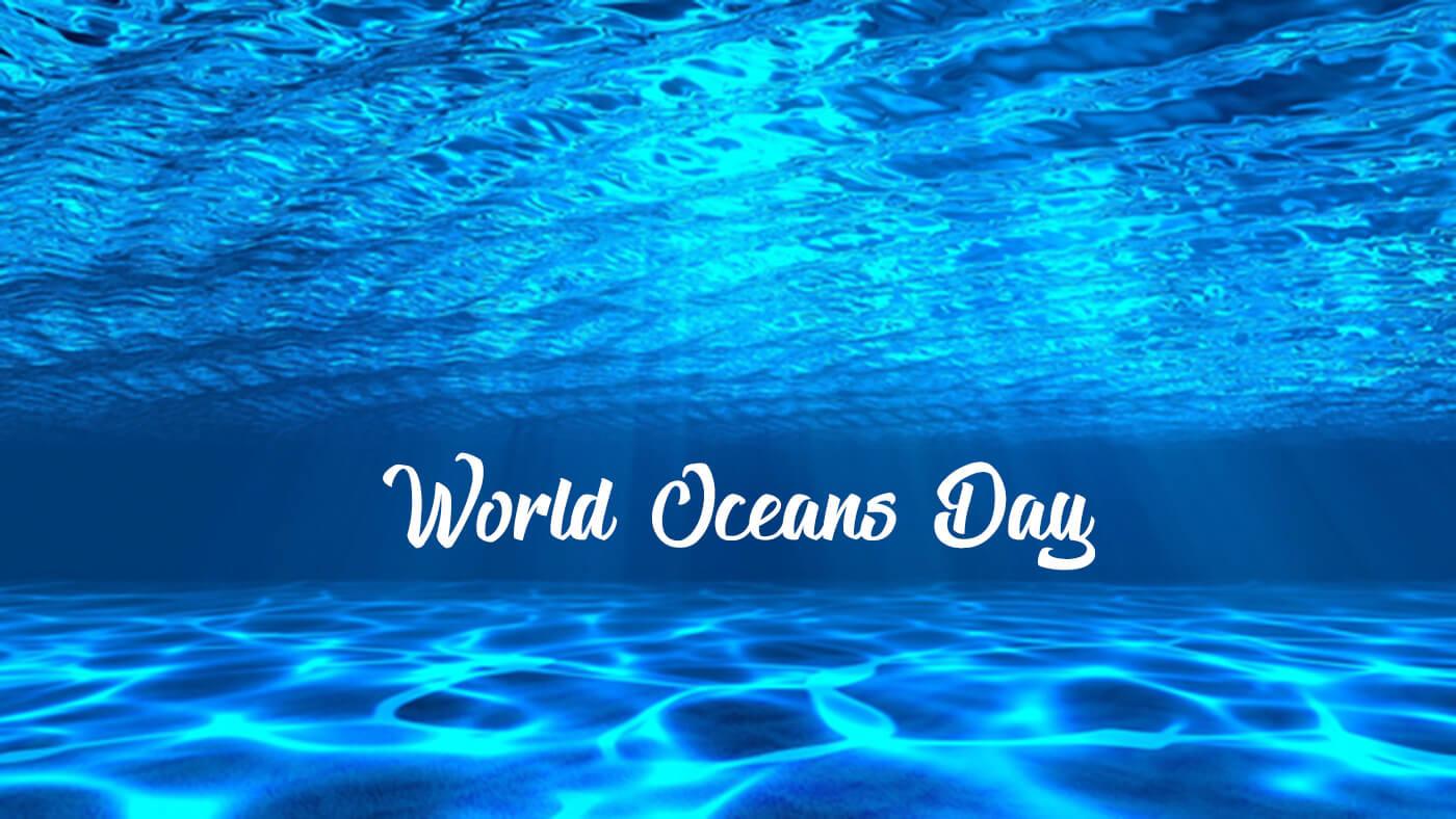 happy world oceans day underwater sun rays hd wallpaper