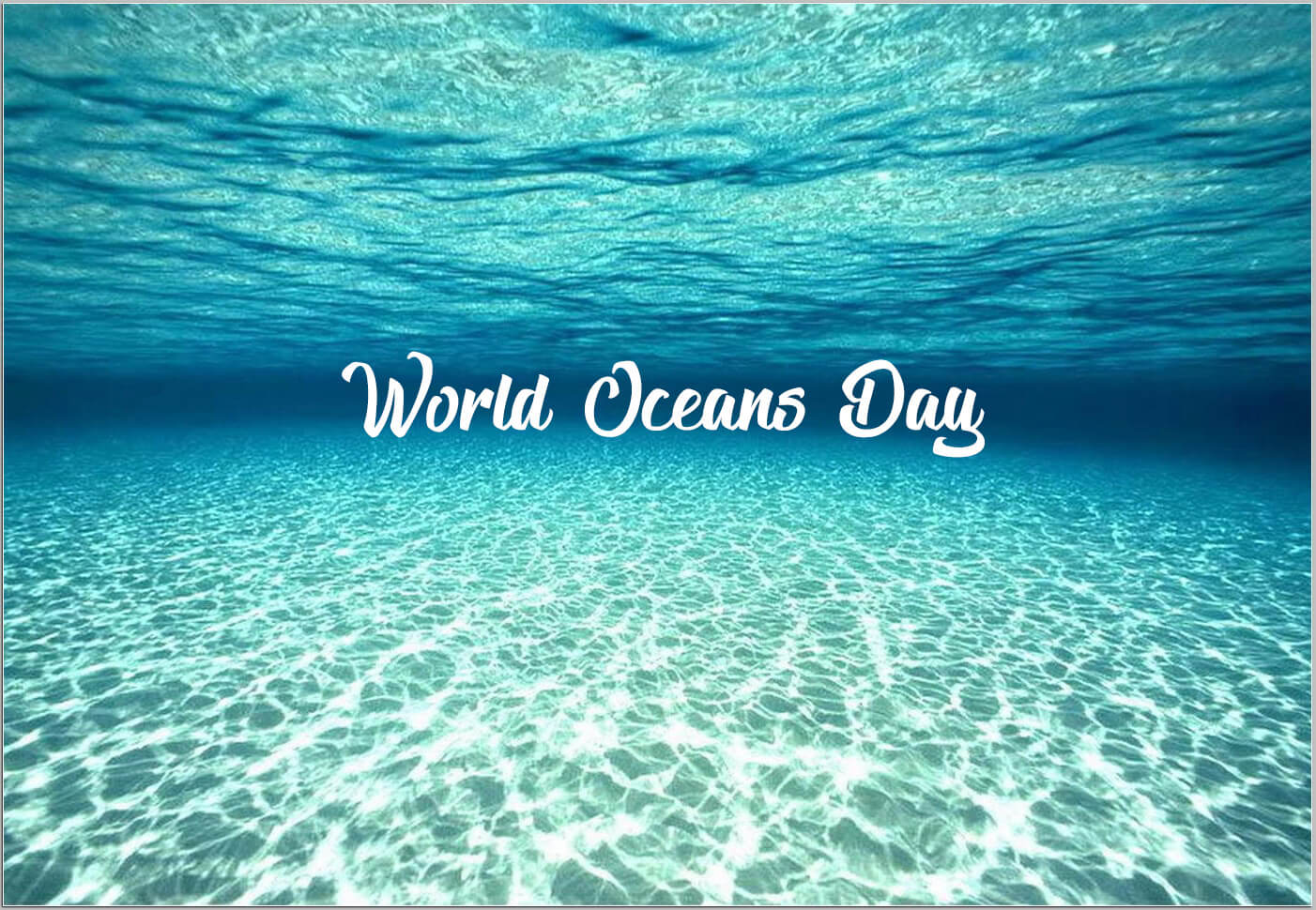 happy world oceans day underwater wallpaper
