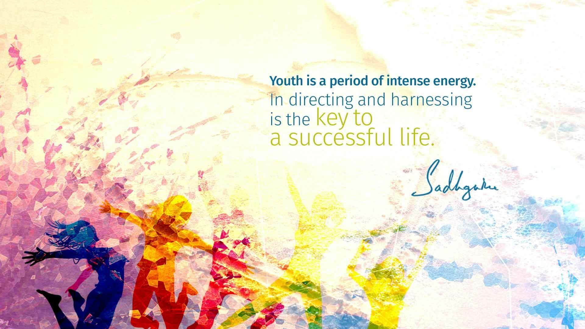 happy youth day modern greetings quotes text successful life wallpaper