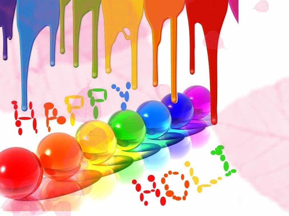 holi colors festival greetings wishes 3d hd wallpaper