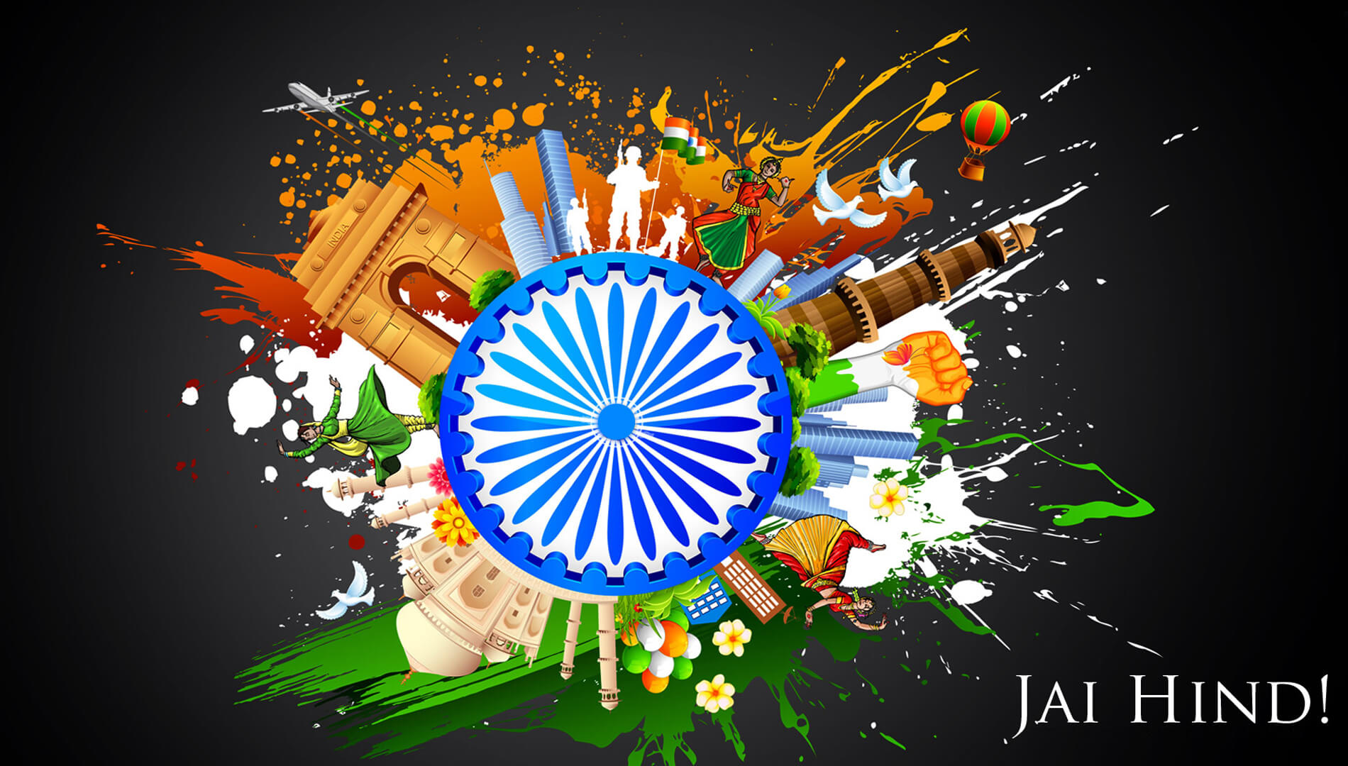 india independence day 15th august jai hind hd wallpaper