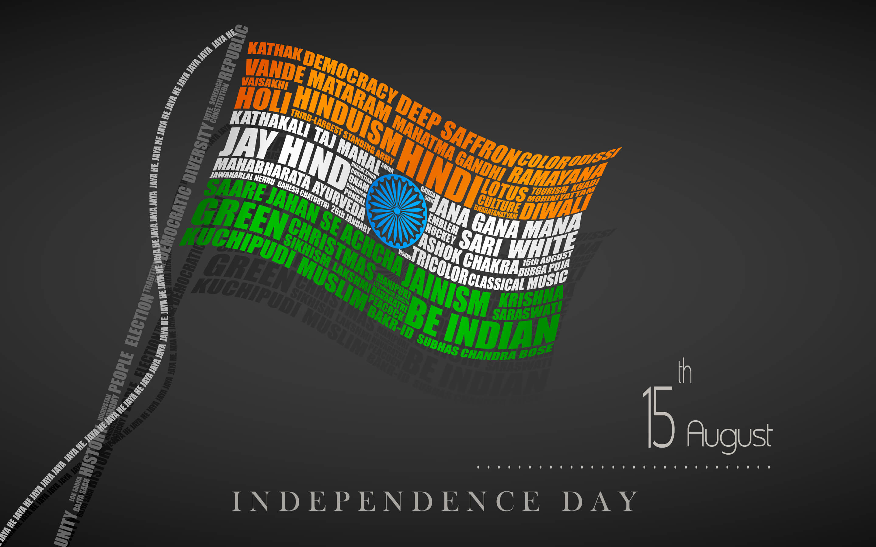 india independence day modern 3d flag august 15th hd wallpaper