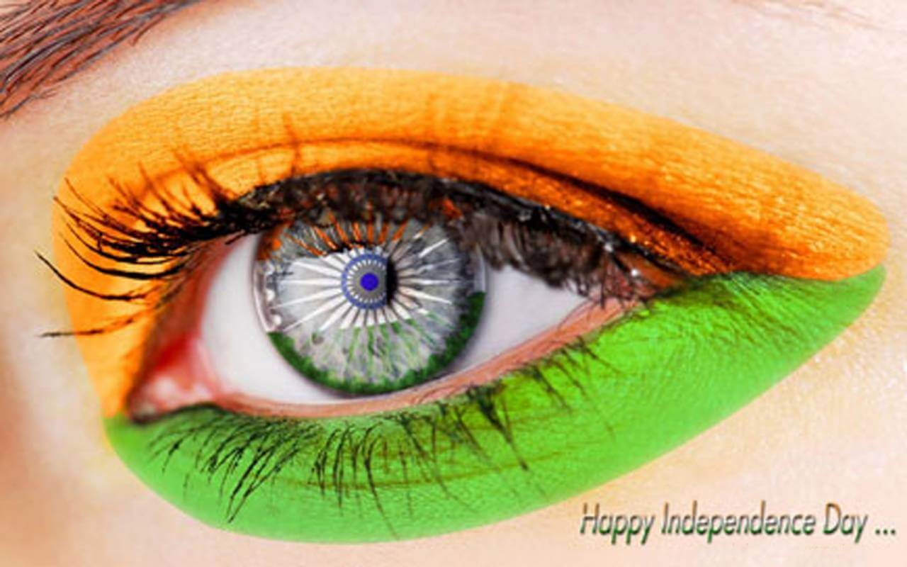 india independence day tri color eye august 15th 1947 image
