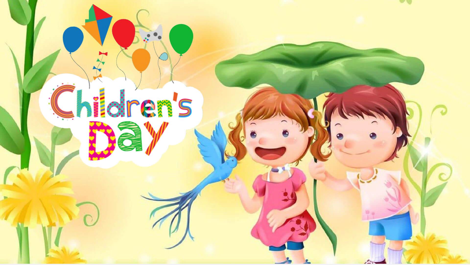 international childrens day hd cartoon wallpaper
