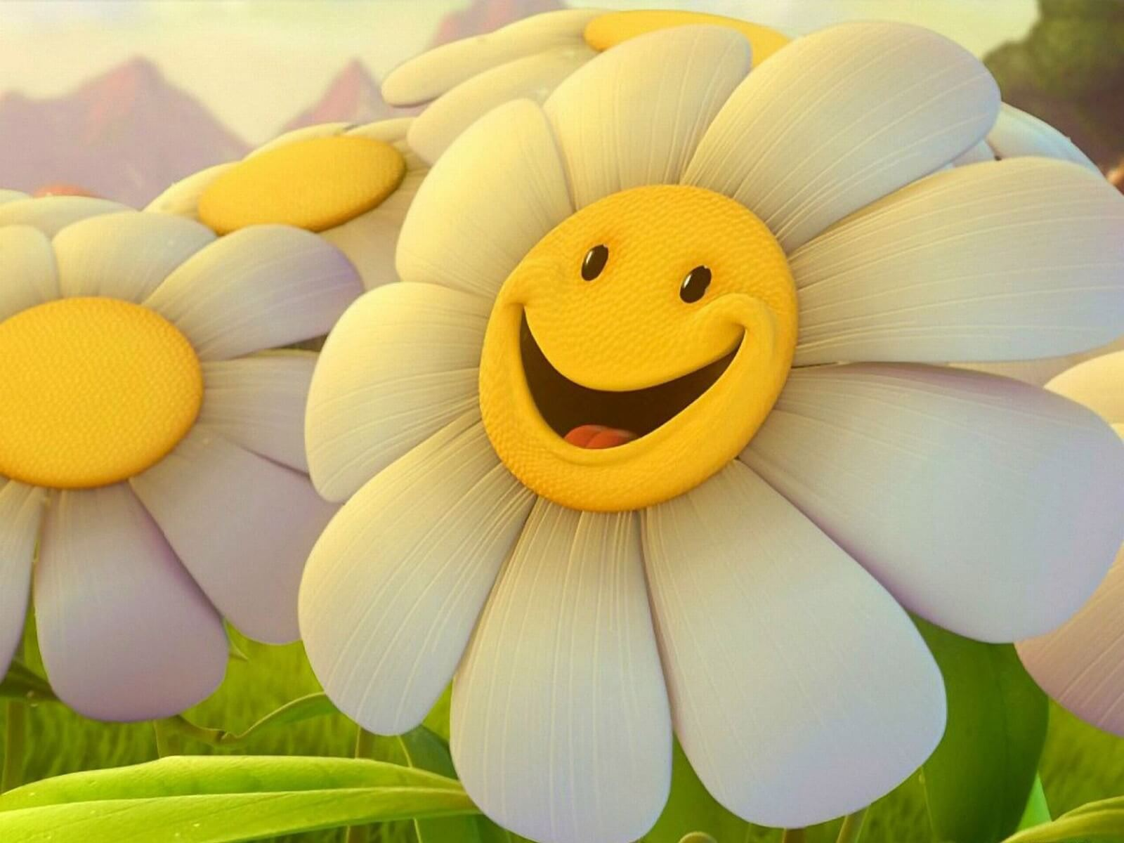 International Day Of Happiness Hd Wallpaper Flower Smiley Face