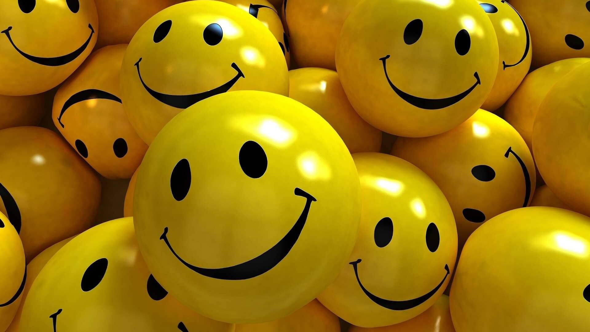 international day of happiness wallpaper smiley balls