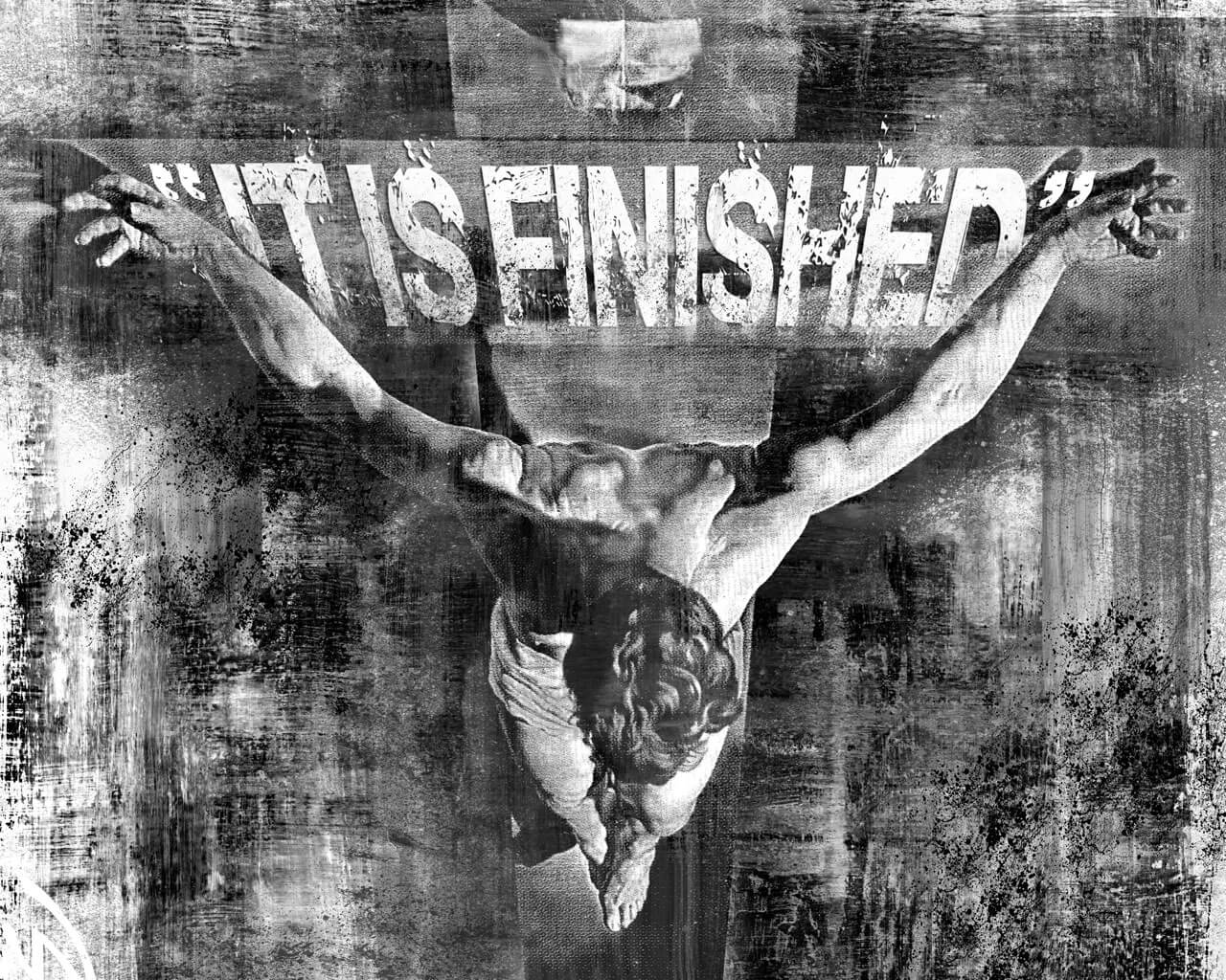 jesus on the cross it is finished crucifixion good friday wallpaper
