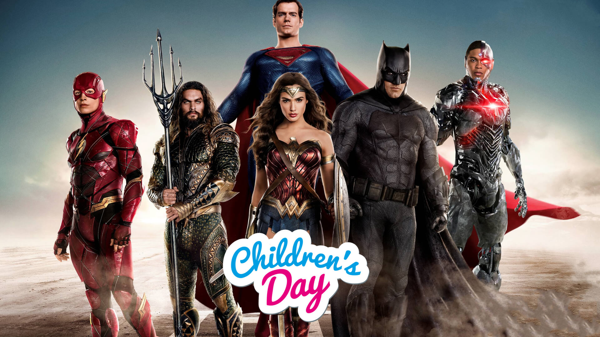 justice league wishes happy childrens day hd wallpaper