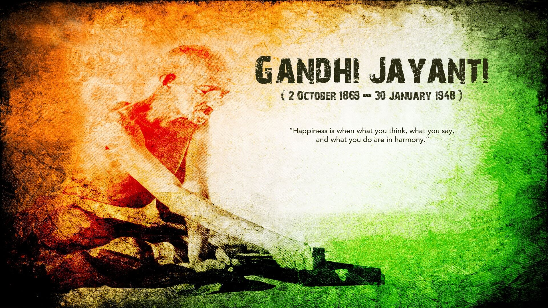 mahatma gandhi jayanti wishes hd wallpaper