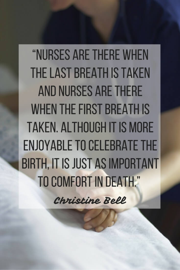 nurses day birth death quote