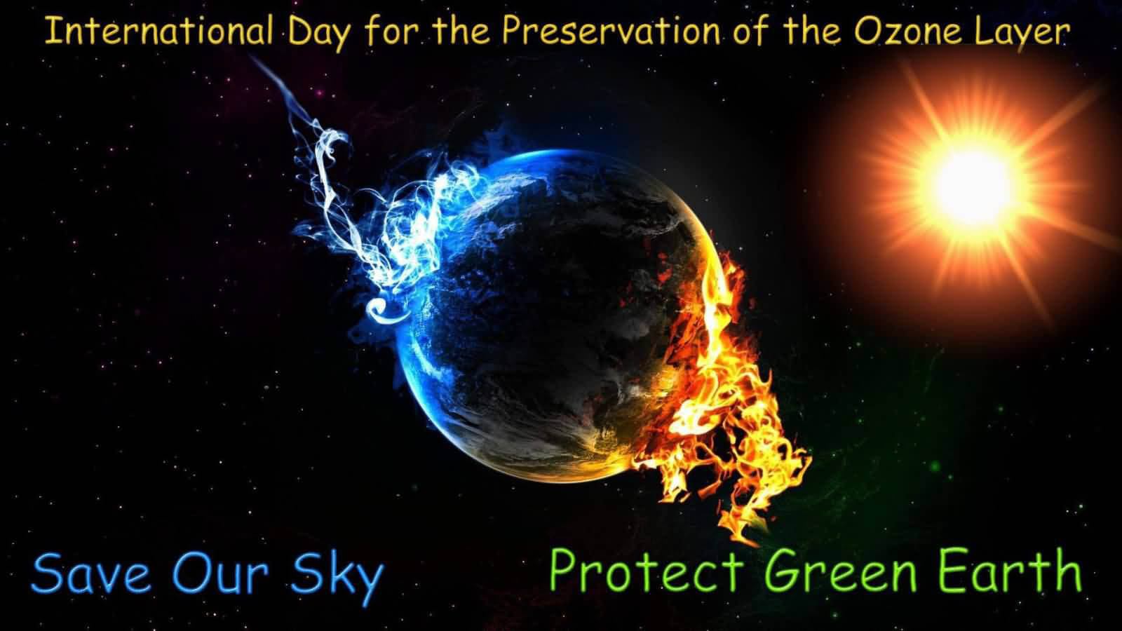 ozone day layer protection prevention awareness save green earth wallpaper