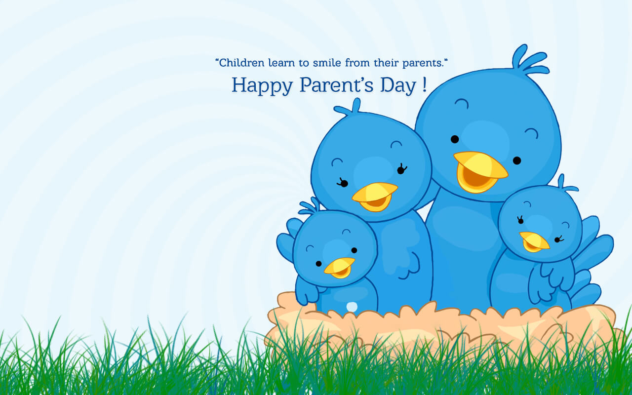parents day hd wallpaper birds
