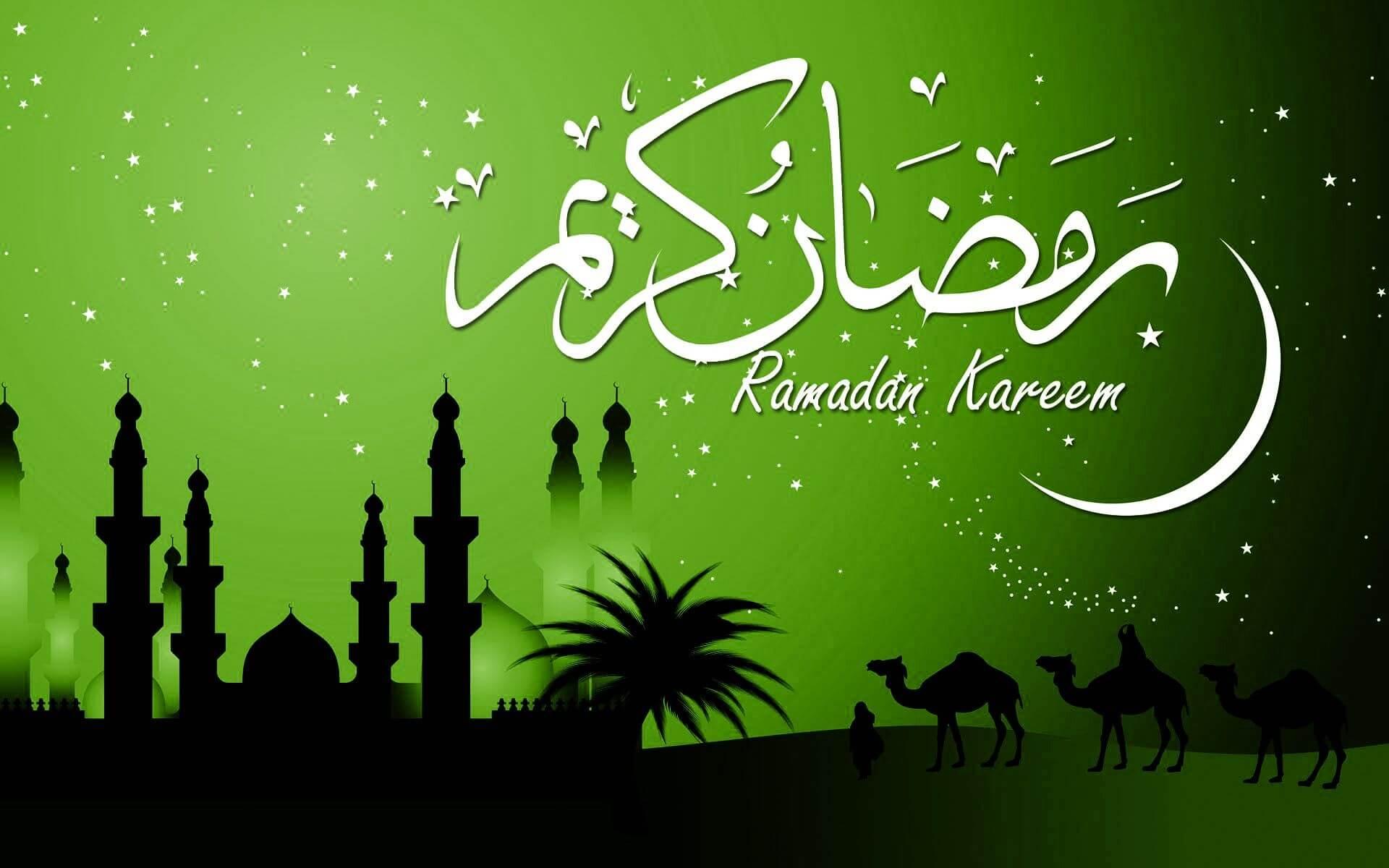 ramadan kareem eid mubarak camels wallpaper