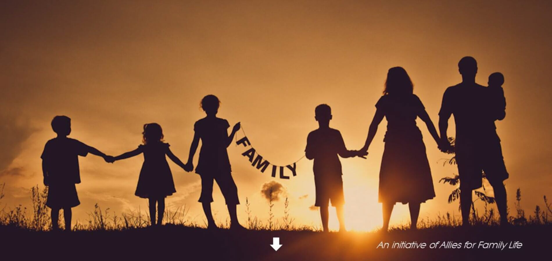 silhouette happy family day hd pic