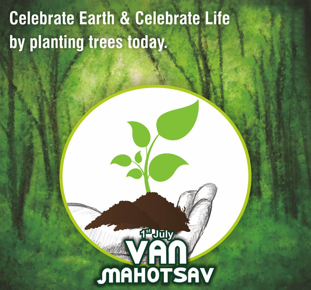 van mahotsav day green tree planting save earth nature picture