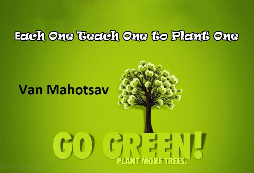 van mahotsav day planting tree go green save earth nature image