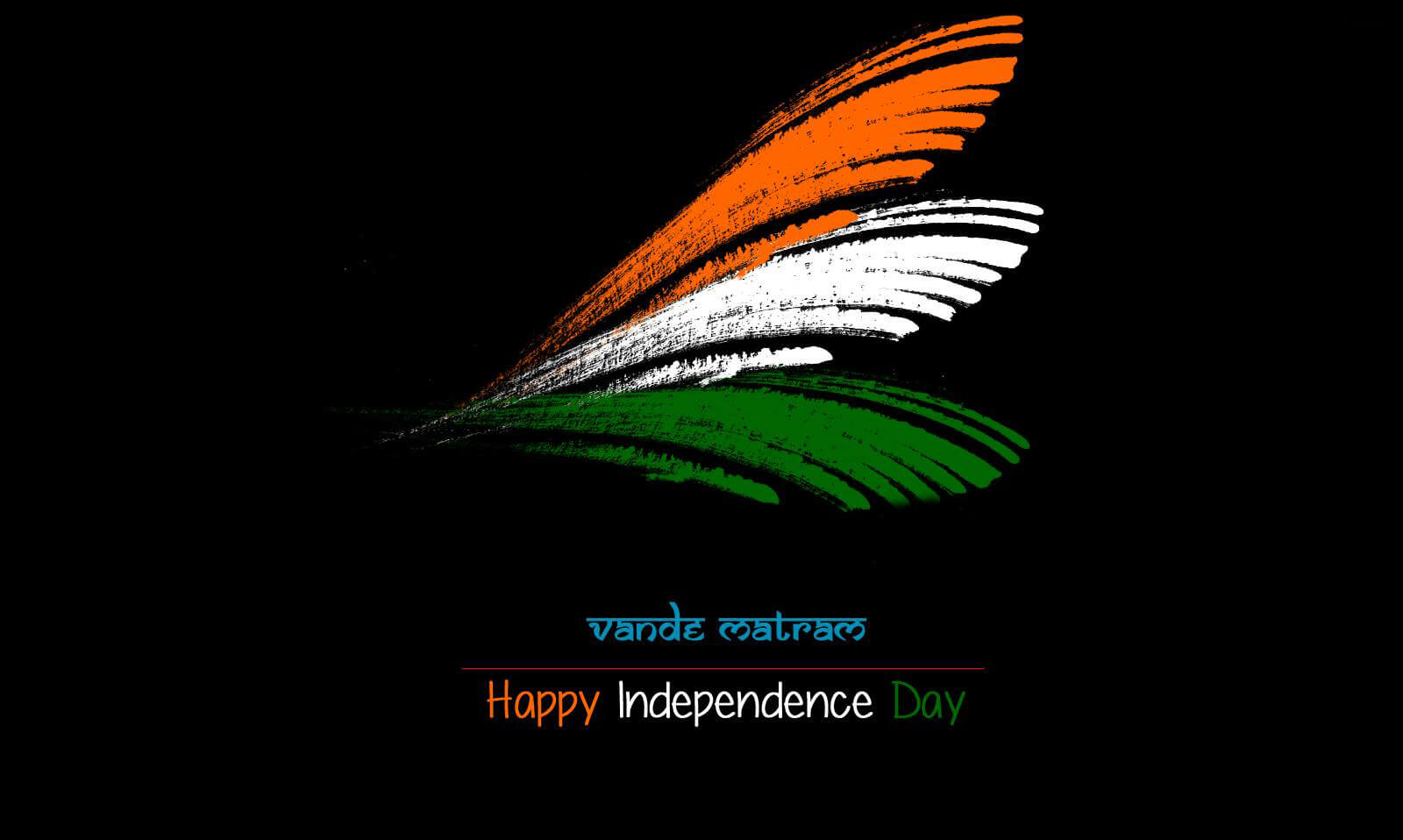 vande mataram india independence day tricolor feather hd wallpaper