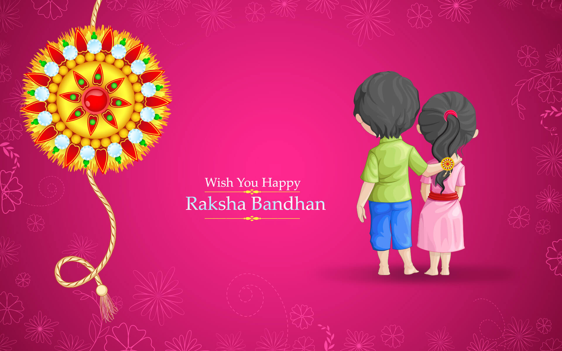 wish you happy raksha bandhan hd desktop wallpaper