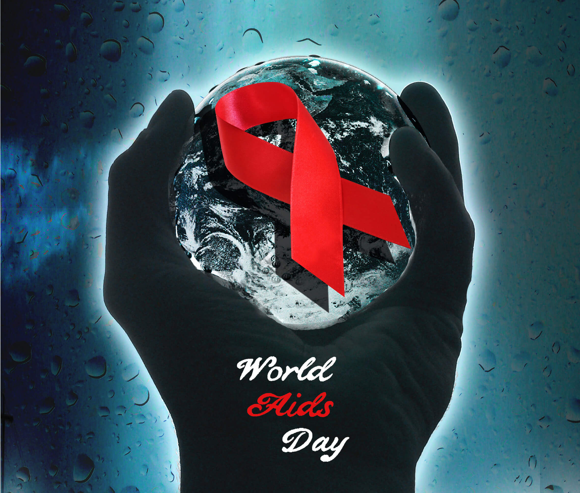 world aids day hand holding world awareness hd wallpaper