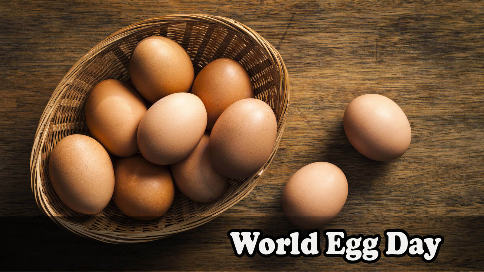 world egg day brown eggs in basket on wooden table hd wallpaper