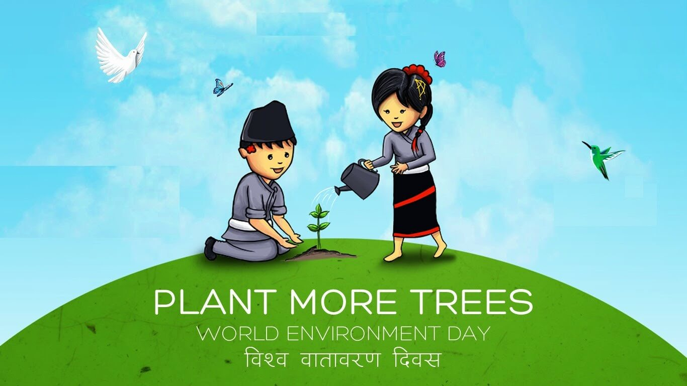 World Environment Day Trees Wallpaper Hindi