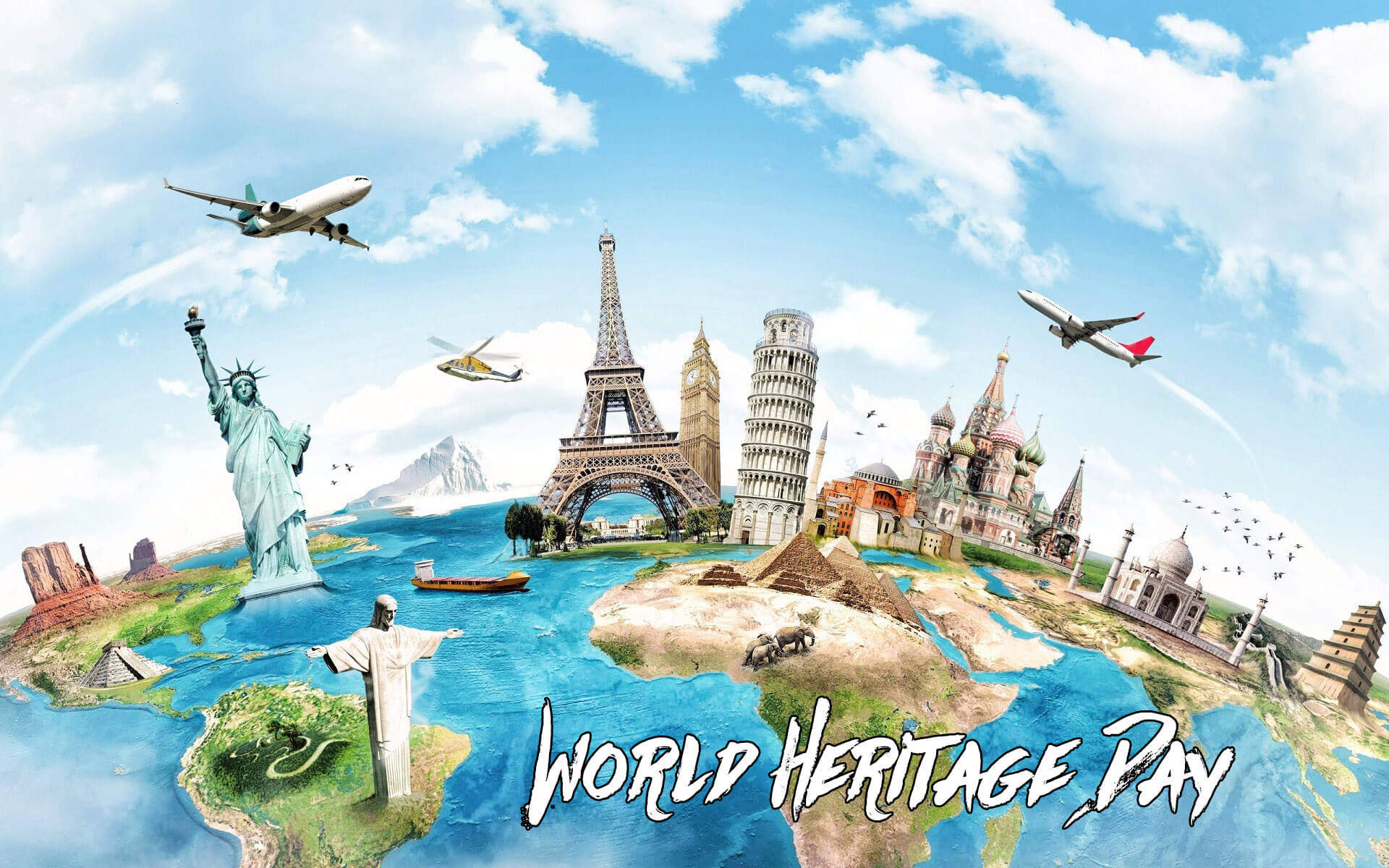 world heritage day 7 wonders monuments hd wallpaper
