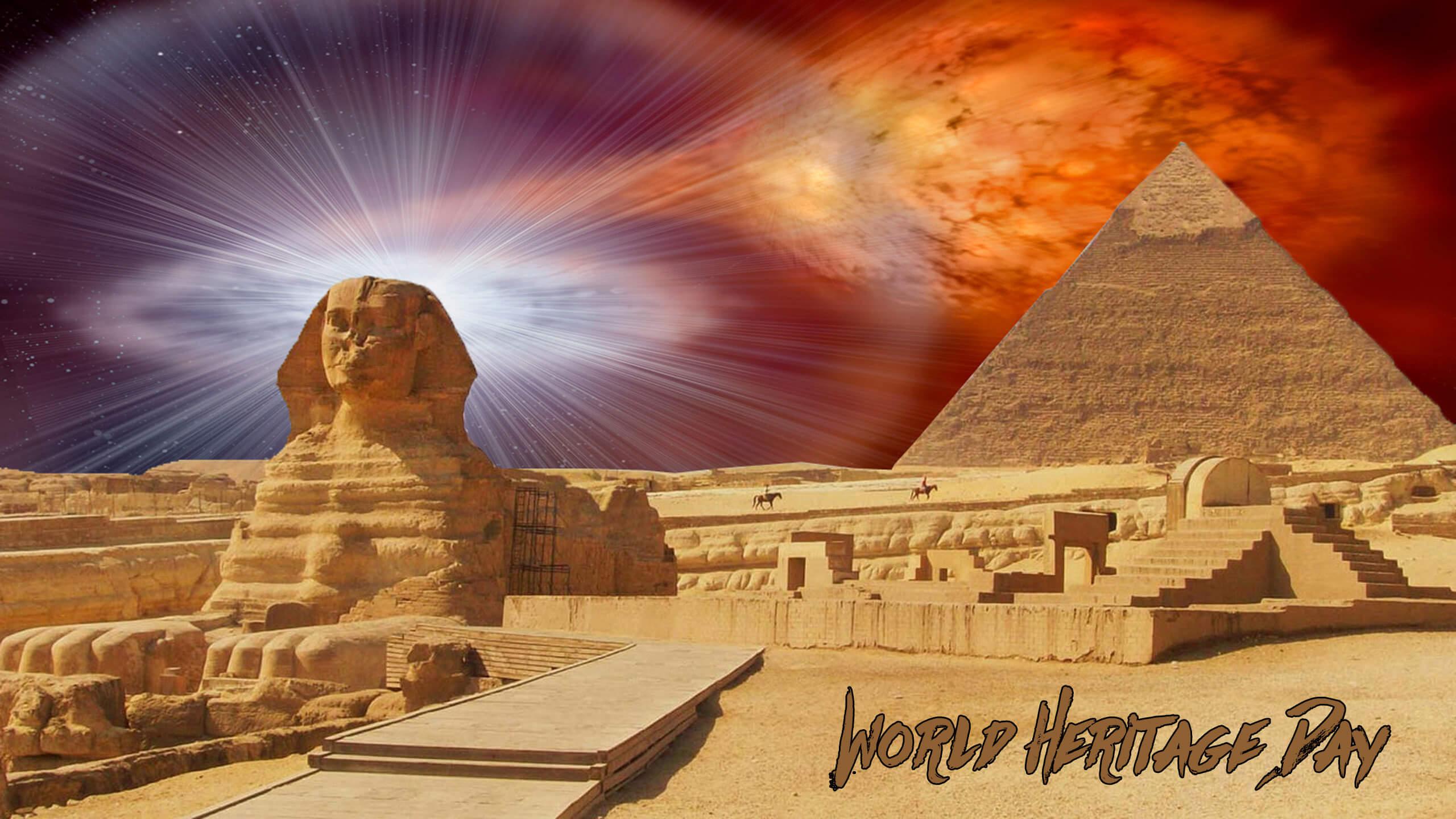 world heritage day egypt pyramid sphinx laptop hd wallpaper