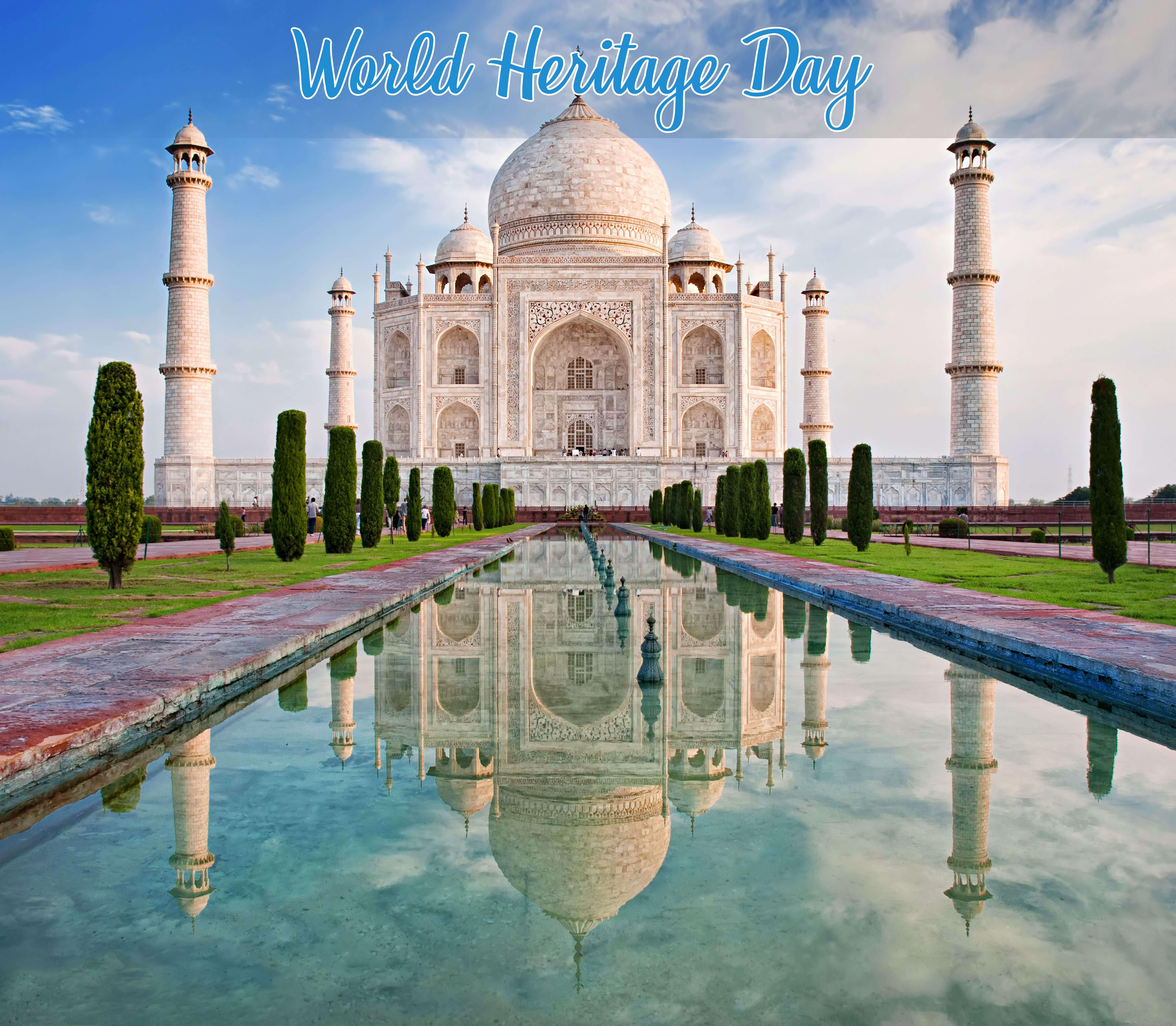 world heritage day monuments tajmahal reflection wallpaper