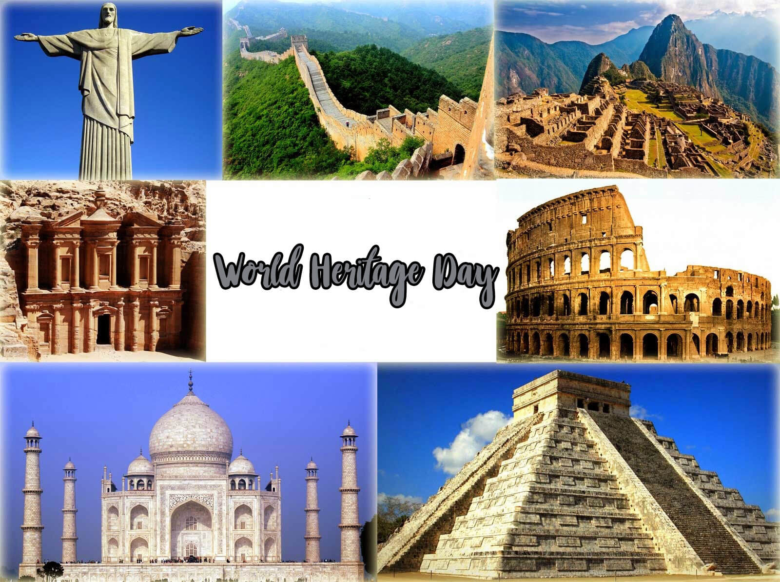 world heritage day seven 7 wonders wallpaper