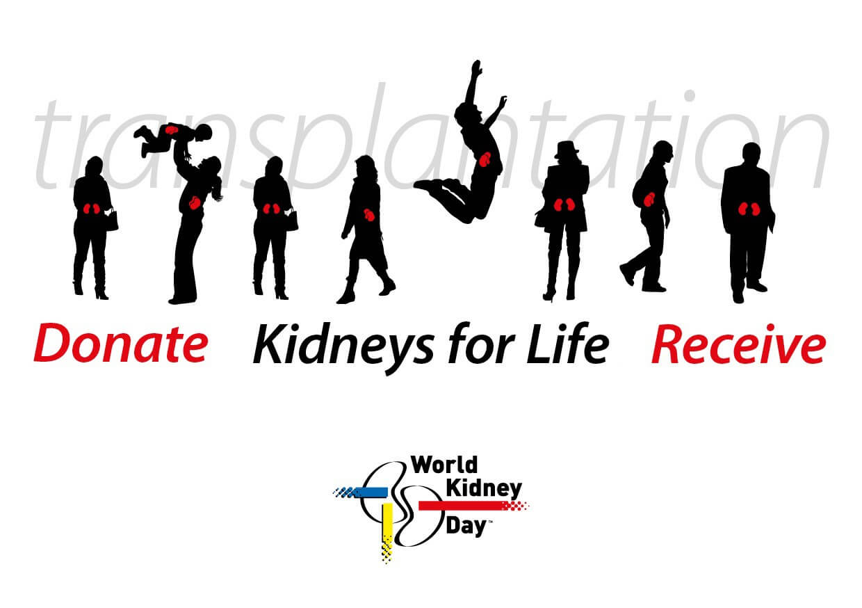 world kidney day hd transplantation silouhettes