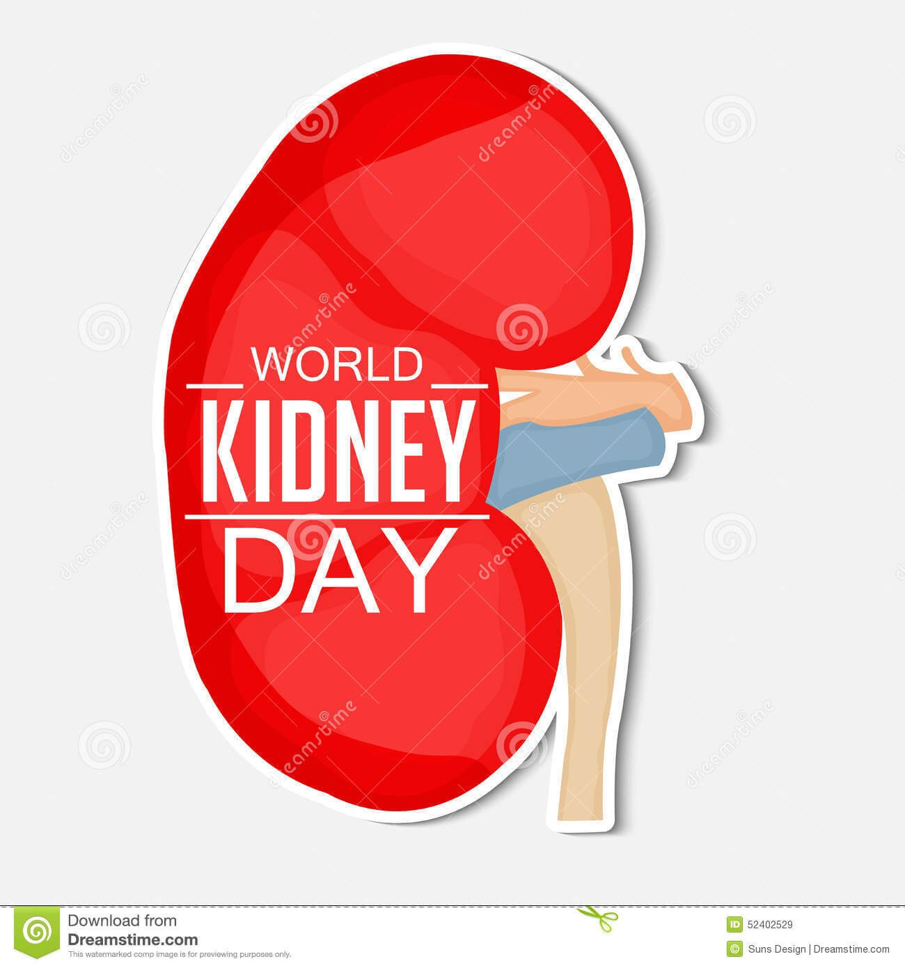 world kidney day illustration