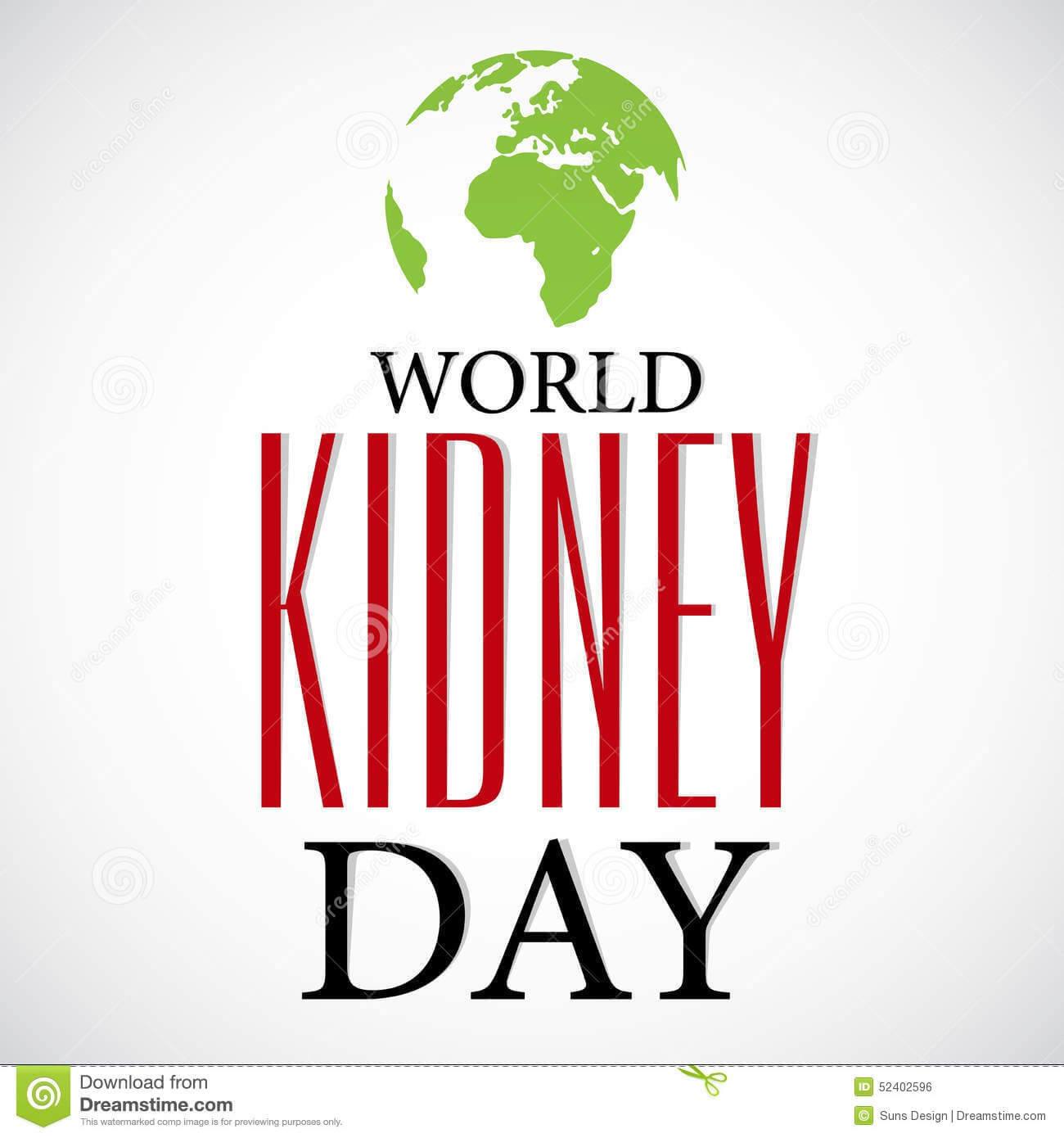 world kidney day vector illustration image