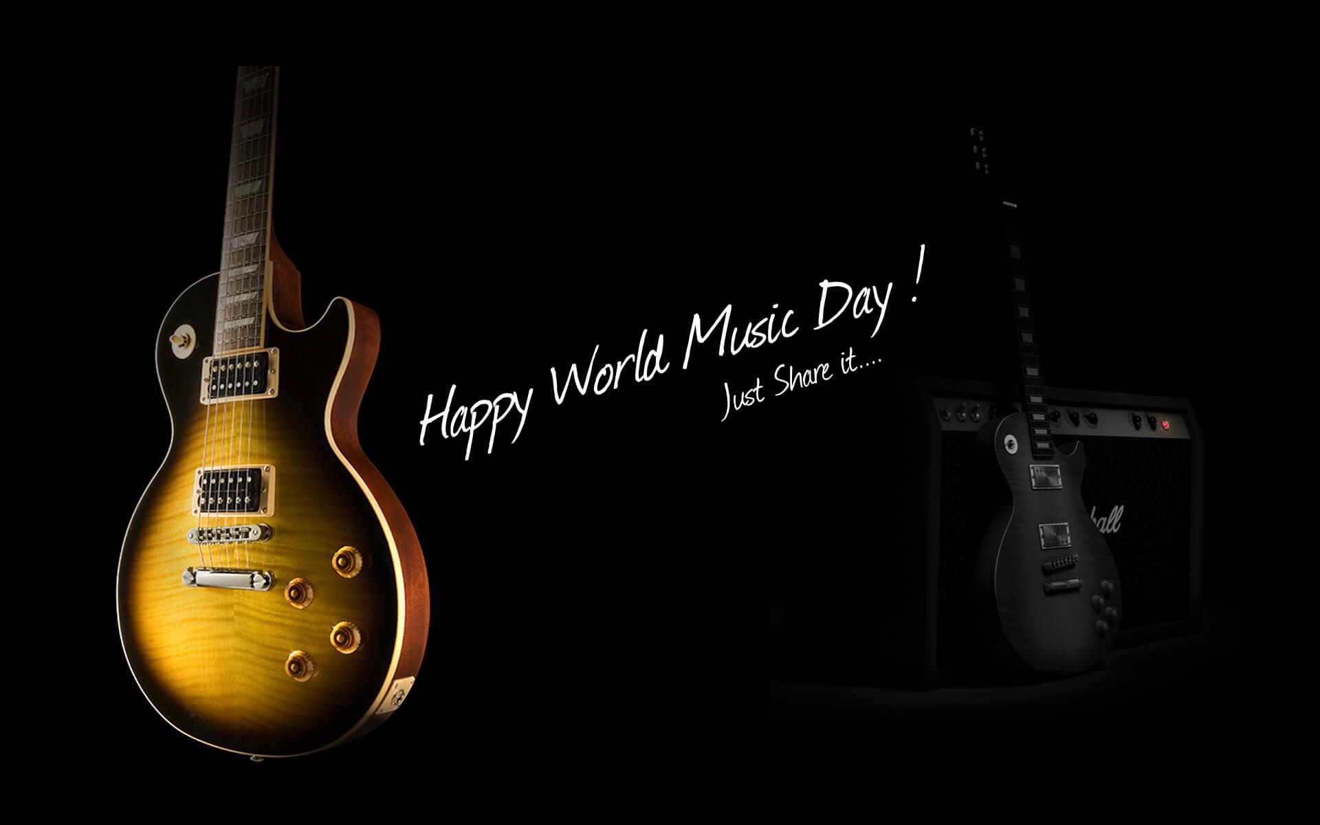 world music day guitar wallpaper