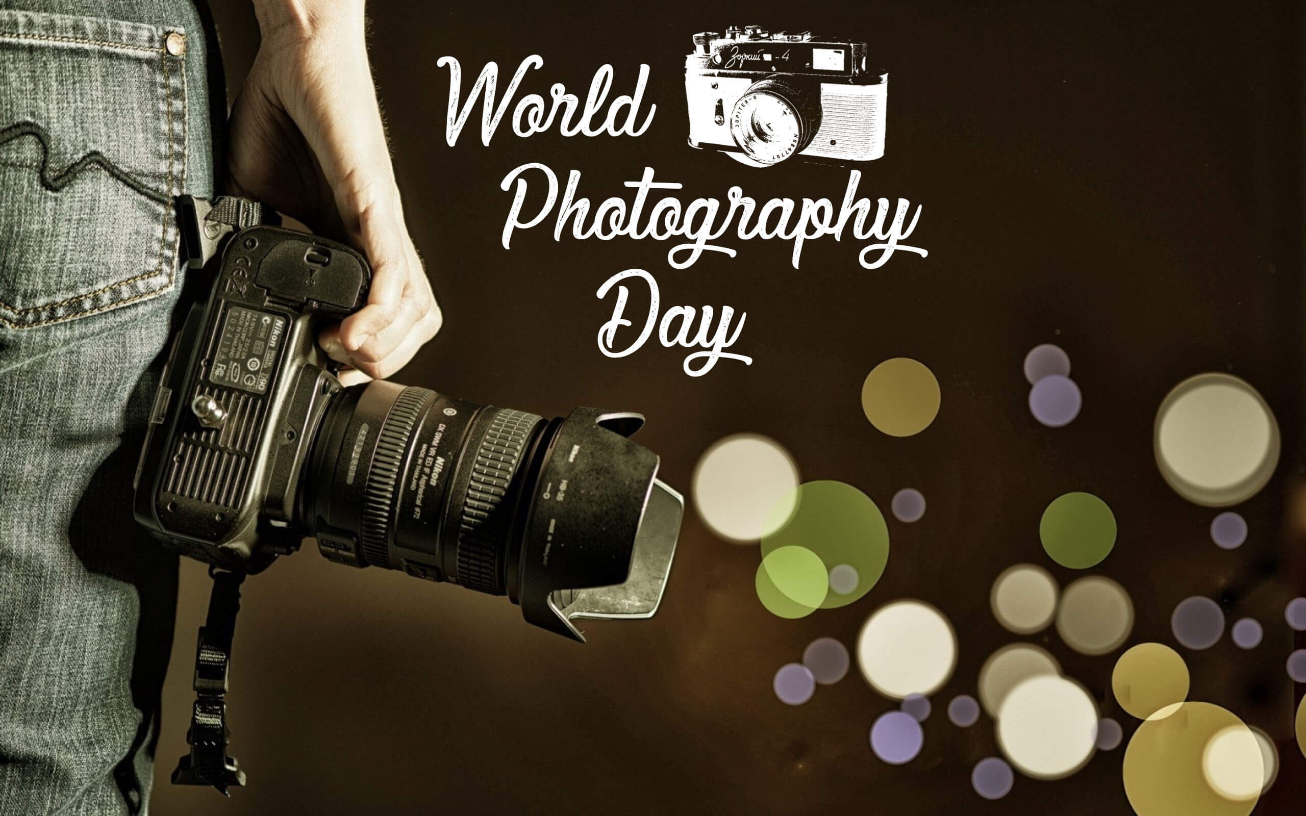 world photography day camera in hand 4k hd wallpaper