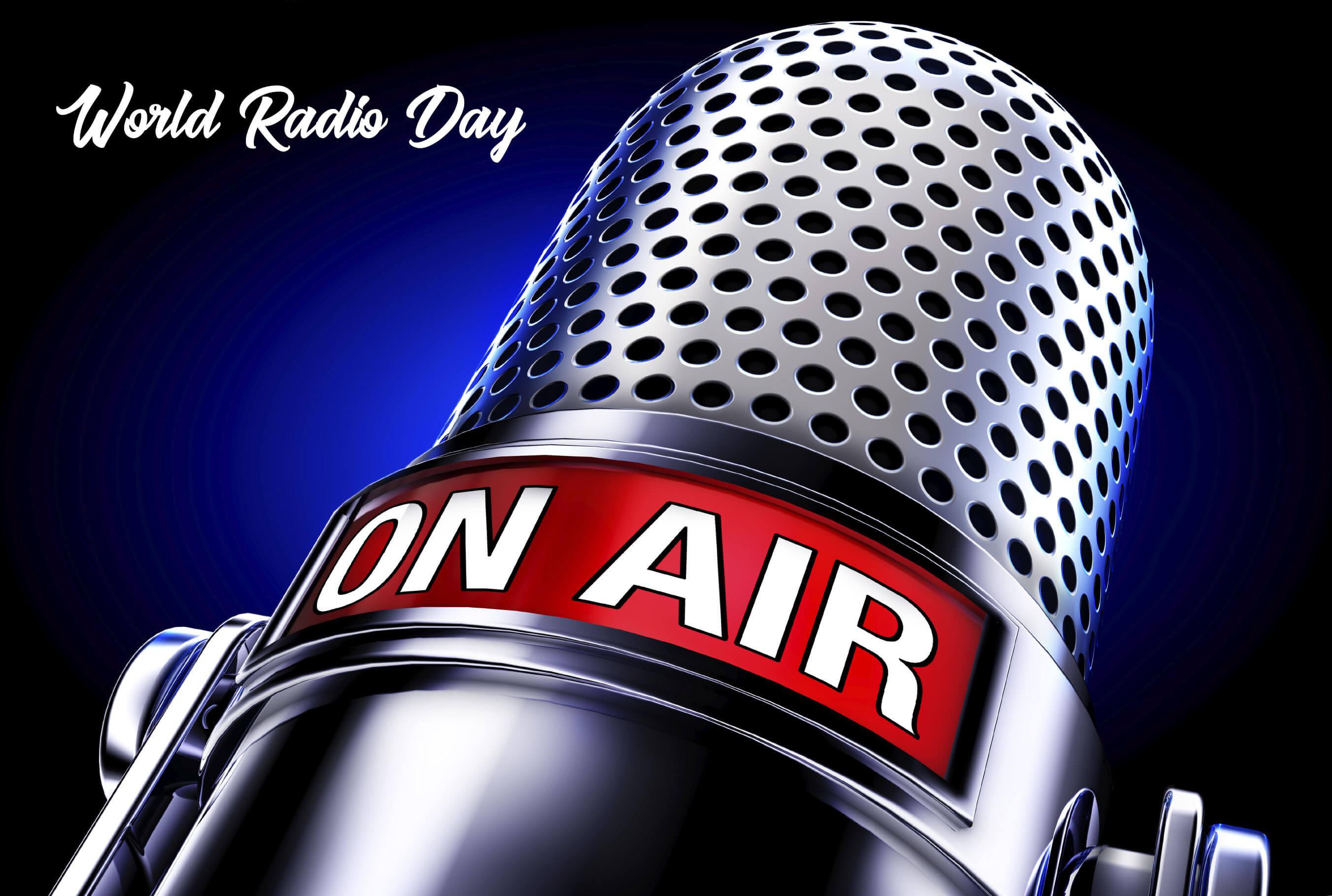 world radio day mic desktop background large hd wallpaper