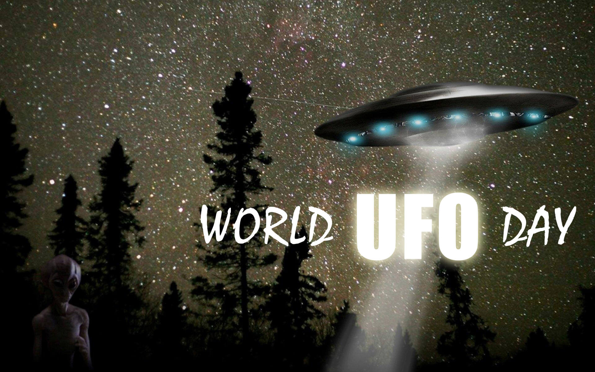 world ufo day unidentified flying object saucer alien hd wallpaper