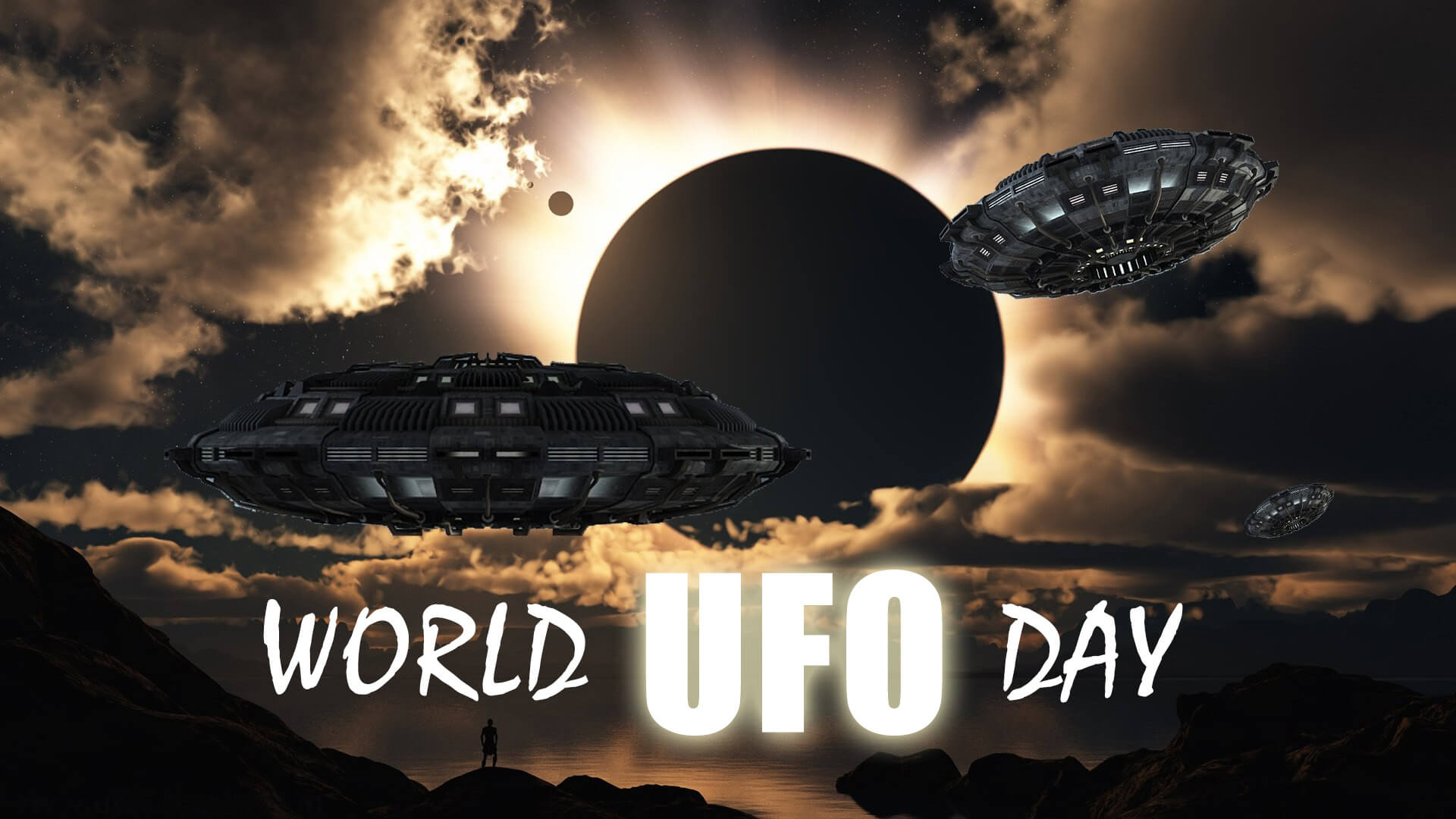 world ufo day unidentified flying object saucers sky hd wallpaper